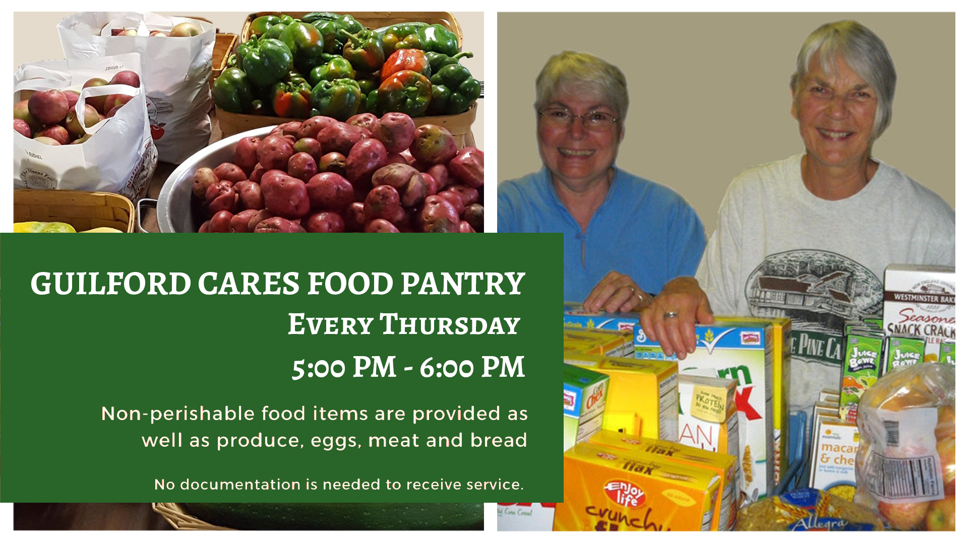 Guilford Cares Weekly Food Pantry